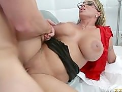 Dirty Criminal Fuck's Hot & Sexy Busty Blonde Mature Prison-Nurse Holly!