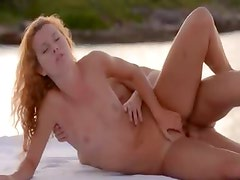 Pussy licking and loving by the sea
