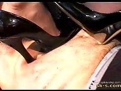Trio Trampling in Stilettos.