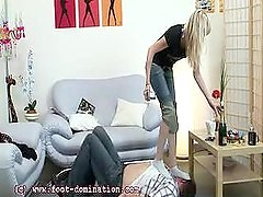 Dark Mistress Trampling in Socks