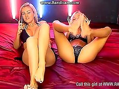 Steph Wright and Kerrie Lee Feet