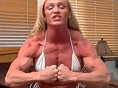 Blonde FBB Sexy Most Muscular Pose