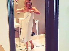 Amanda Holden Dancing in Towel