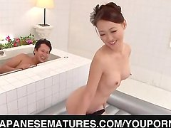 Harsh bath along a steamy milf