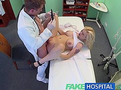 FakeHospital Doctors uniform makes busty blonde wet with desire
