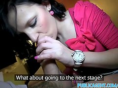 PublicAgent Creampies her pussy in hotel room