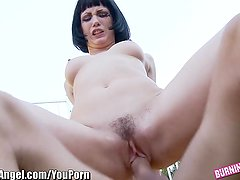 BurningAngel Goth Chick in Public with Big Dick
