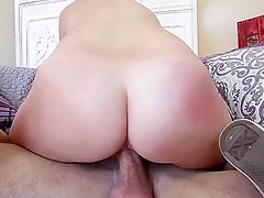 Blonde bitch Charli is filled with cum