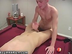 Hot gay sex An guiltless game of pool, abruptly turns into a red-hot