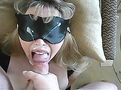 Wifey Gets a Nice Thick Facial While Blindfolded