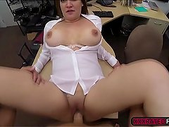 Banging a big tittied milf at pawnshop
