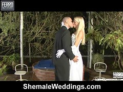 Kinky Just married Shemale Sex