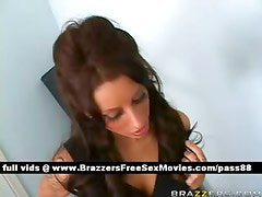 Amateur redhead girl goes to a casting