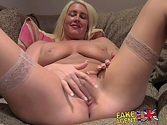 FakeAgentUK Sex casting gives Tattooed babe a way into porn