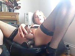 Cam model DPs herself with large black dildos - Spicy.Hol.es