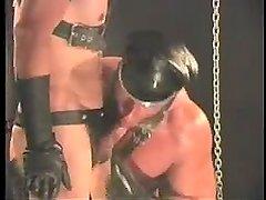 smoking leather daddy fucks boy