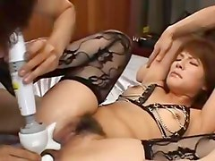 sexy asian anal coitus with lingerie