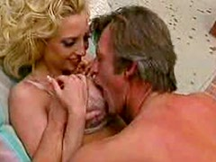 Curly hair blonde Rebecca Wild laid