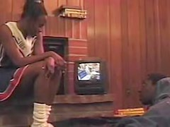 Black cheerleader nailed in her young cunt