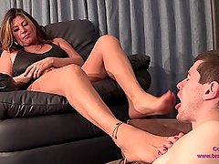 Daniela - Step Son Force to Lick Boots and Feet Clean