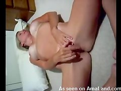 Horny brat fingering herself like a wild woman