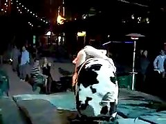 Drunk chick flashes her ass on a mechanical bull (no panties)
