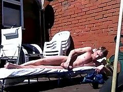 Caught maturbating in back yard off neighbour