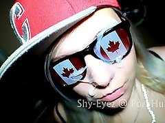 ( Sexy Canada Day Blowjob & Huge Facial ) Shy-Eyez & Tha Cumshot King
