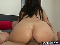 Teen stepsister buttfucked and atm sucking