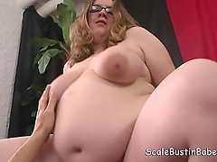 Pregnant BBW Sweetie Mitchell Fucking Cum on Belly