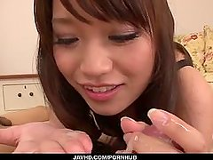 Serious blowjob in POV by nasty Banana Asada