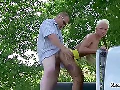 German Young Street Whore fucked by older Man