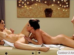 India Summer and Tiffany Doll lesbo sex