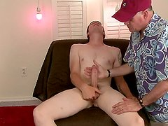 Brian is the All American straight boy next door, blond and hung big and I get to jack him off.