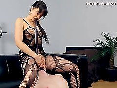 Femdom facesitting bodystocking from HOTRUSSIABABES.NET