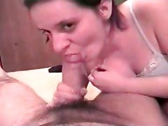 Big dick lets its load fly all over this dirty bitch's face and body