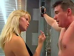 Adorable mistress Valeria dominating and humiliating her slave