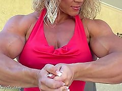 Aleesha Young In Sexy red dress