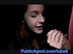 PublicAgent Naughty redhead getting fucked hard in casino toilets