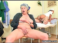 Hot Nurse Helps Old Patient To Get Laid