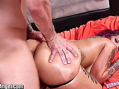 BurningAngel Big Ass Punk Babe Oiled and Anal