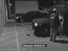 Parking Lot Action Caught By A Security Camera