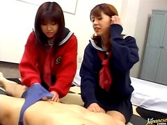 Hot Threesome With Two Naught Schoolgirls