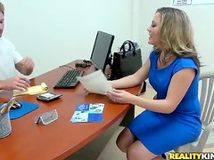 Office Sex With The Horny Blonde Babe Carmen Valentina