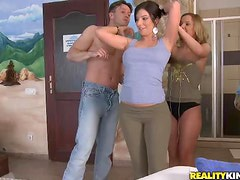Really Hot Foursome With The Hot Babe Debbie White And Her Friend