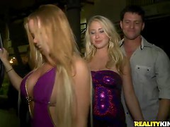 Hot Blondes Getting Drilled In the Middle Of the Dance Floor