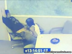 Lunch Time Blowjob From A Hot Brunette Caught On Camera