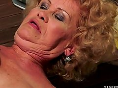 Granny Effie fucked by young man