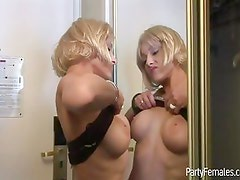 Babes Gets Beads By Flashing Tits