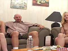 Identical Twin Teens suck and fuck old cock